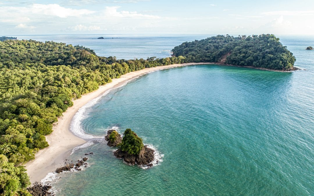 espadilla beach and Coastline near the Manuel Antonio national park, Costa Rica