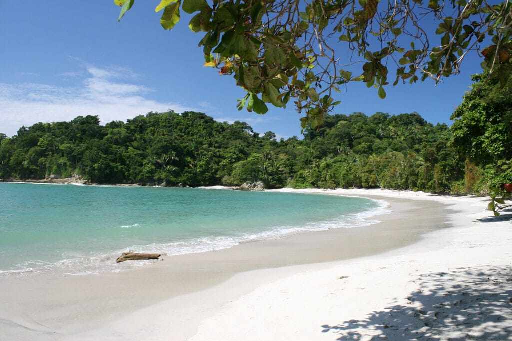 tropical beach in manual antonio national park Costa Rica