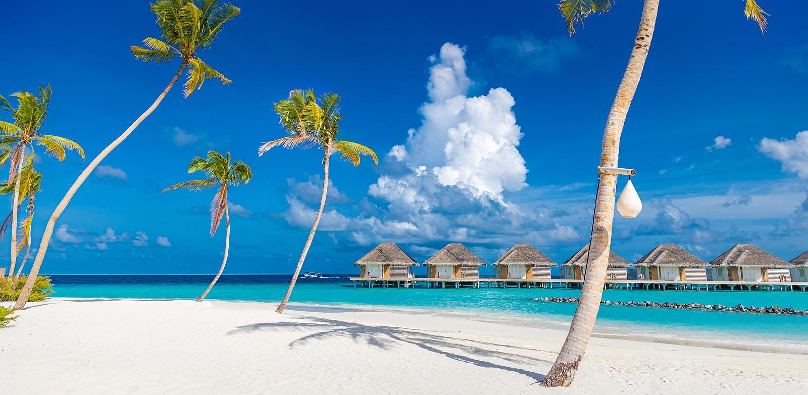 Amazing panorama at Maldives